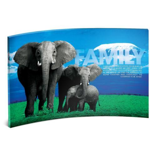 Family Elephants Curved Desktop Acrylic