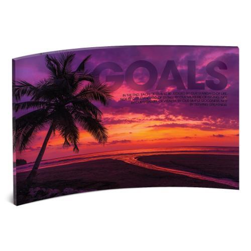 Goals Sunset Curved Desktop Acrylic