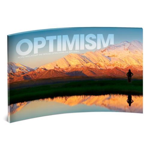 Optimism Mountain Curved Desktop Acrylic