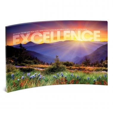 Excellence Sunrise Mountain Curved Desktop Acrylic