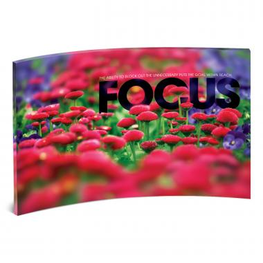 Focus Flowers Curved Desktop Acrylic