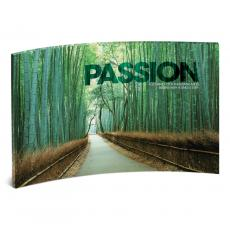 Acrylic Desktop Prints - Passion Bamboo Path Curved Desktop Acrylic
