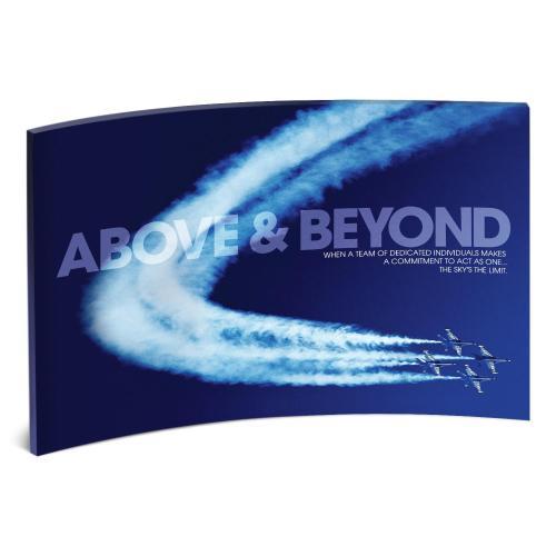Above & Beyond Jets Curved Desktop Acrylic