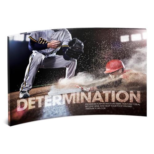Determination Baseball Curved Desktop Acrylic