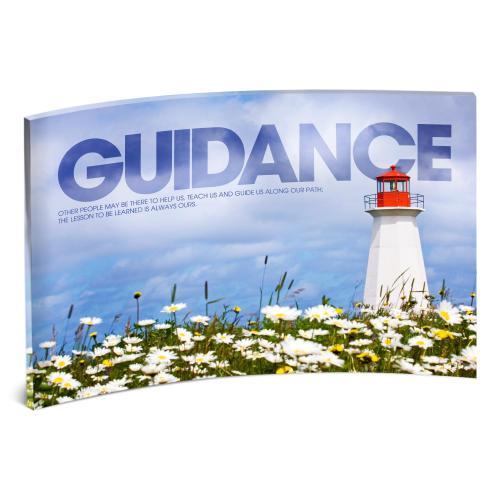 Guidance Lighthouse Curved Desktop Acrylic