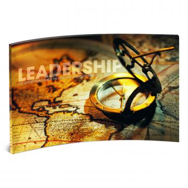 Leadership Compass Curved Desktop Acrylic