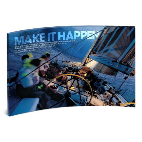 Make It Happen Curved Desktop Acrylic