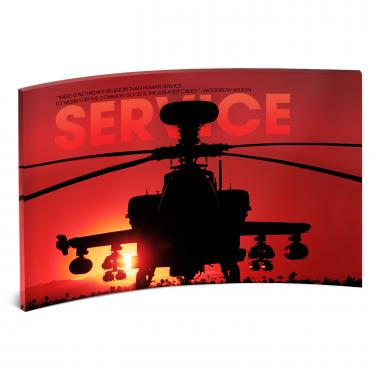 Service Helicopter Curved Desktop Acrylic