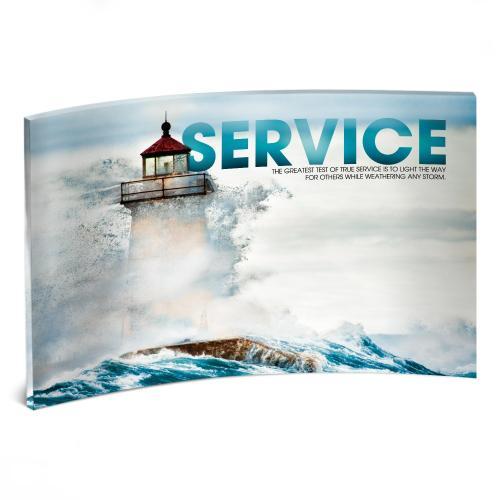 Service Lighthouse Curved Desktop Acrylic