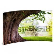 Acrylic Desktop Prints - Strength Tree Curved Desktop Acrylic