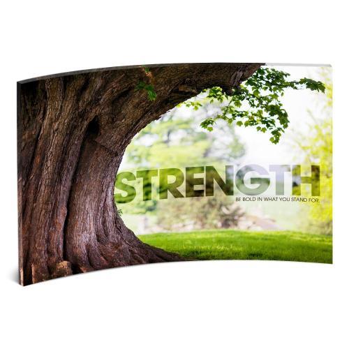 Strength Tree Curved Desktop Acrylic