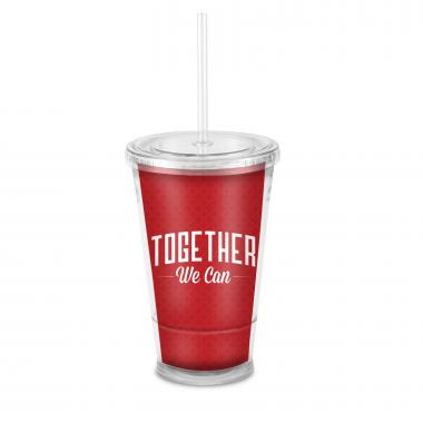 Together We Can Acrylic Straw Tumbler