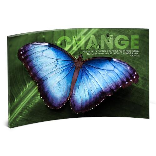 Change Butterfly Curved Desktop Acrylic