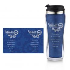 Thank You Gifts - You're An Essential Part Flip Top Travel Mug