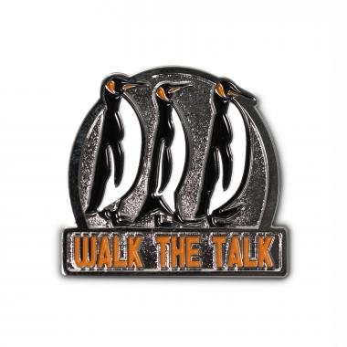 Walk the Talk Penguins Lapel Pin