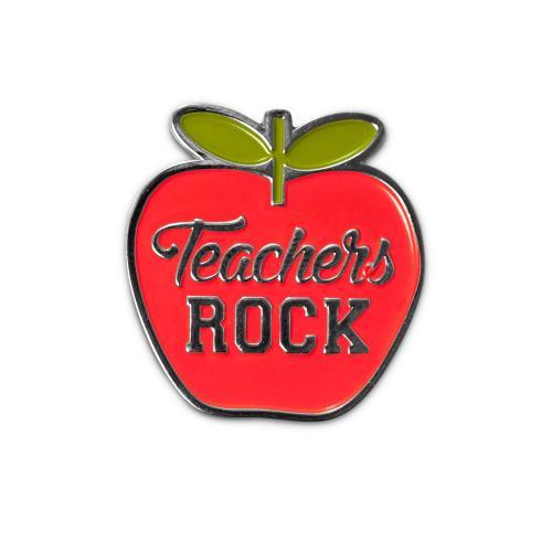 Teachers Rock Lapel Pin