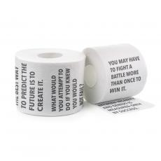 Closeout and Sale Center - Motivational Toilet Paper