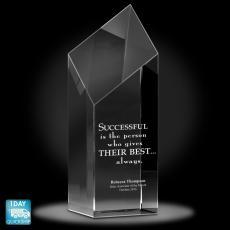 Quick Ship Awards - Diamond Service Crystal Award