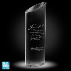 Quick Ship Awards - Elliptico Crystal Award