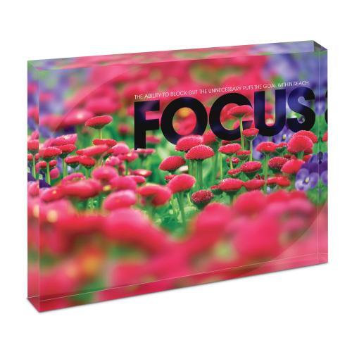 Focus Flowers Infinity Edge Acrylic Desktop