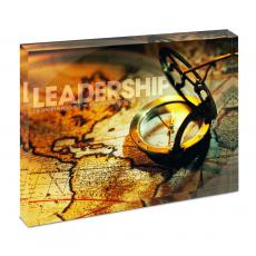Modern Motivation - Leadership Compass Infinity Edge Acrylic Desktop