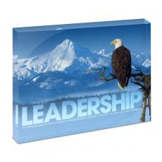 Modern Motivation - Leadership Eagle Infinity Edge Acrylic Desktop