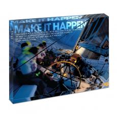 Modern Motivation - Make It Happen Sailboat Infinity Edge Acrylic Desktop