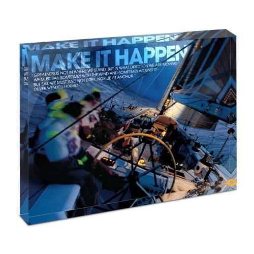 Make It Happen Sailboat Infinity Edge Acrylic Desktop