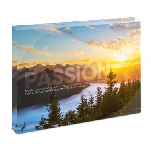 Passion Sunrise Infinity Edge Acrylic Desktop
