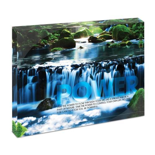 Power Waterfall Infinity Edge Acrylic Desktop