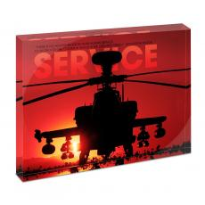 Modern Motivation - Service Helicopter Infinity Edge Acrylic Desktop