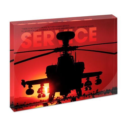 Service Helicopter Infinity Edge Acrylic Desktop
