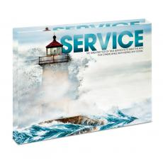 Modern Motivation - Service Lighthouse Infinity Edge Acrylic Desktop