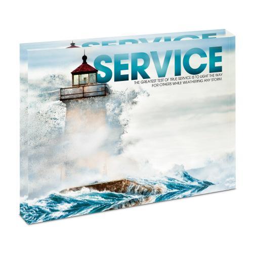 Service Lighthouse Infinity Edge Acrylic Desktop