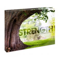 Modern Motivation - Strength Tree Infinity Edge Acrylic Desktop