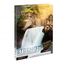 Modern Motivation - Strength Waterfall Infinity Edge Acrylic Desktop