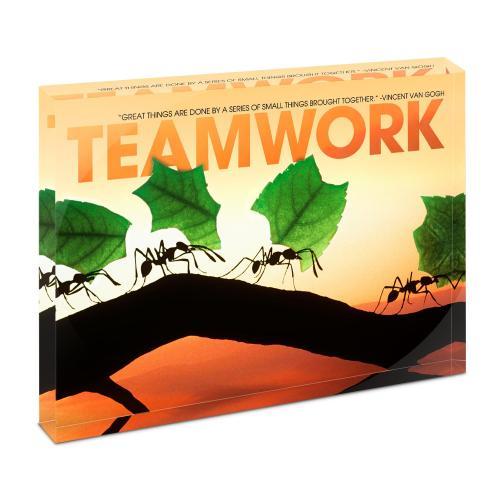 Teamwork Ants Infinity Edge Acrylic Desktop