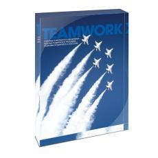 Modern Motivation - Teamwork Jets Infinity Edge Acrylic Desktop