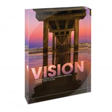 Modern Motivation - Vision Bridge Infinity Edge Acrylic Desktop