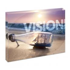 Modern Motivation - Vision Ship Infinity Edge Acrylic Desktop