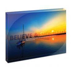 Entire Collection - Believe & Succeed Sailboat Infinity Edge Acrylic Desktop
