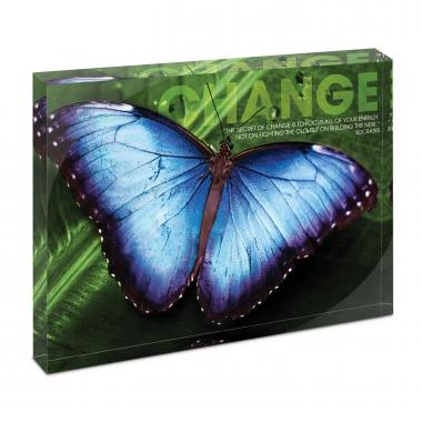Change Butterfly Infinity Edge Acrylic Desktop