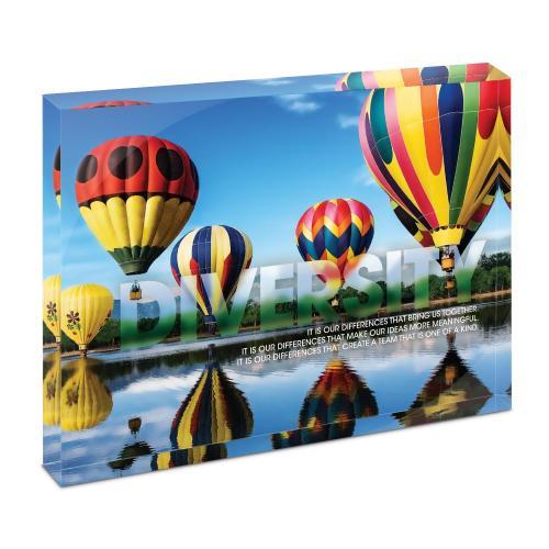 Diversity Balloons Infinity Edge Acrylic Desktop