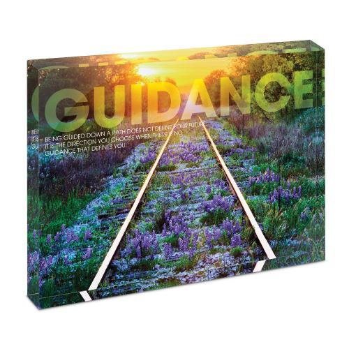 Guidance Railroad Tracks Infinity Edge Acrylic Desktop