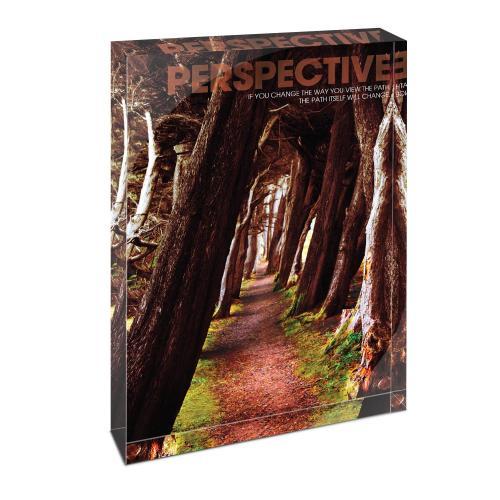 Perspective Wooded Path Infinity Edge Acrylic Desktop