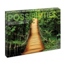 Modern Motivation - Possibilities Wooden Bridge Infinity Edge Acrylic Desktop