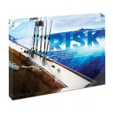 All Posters & Art - Risk Sailboat Infinity Edge Acrylic Desktop