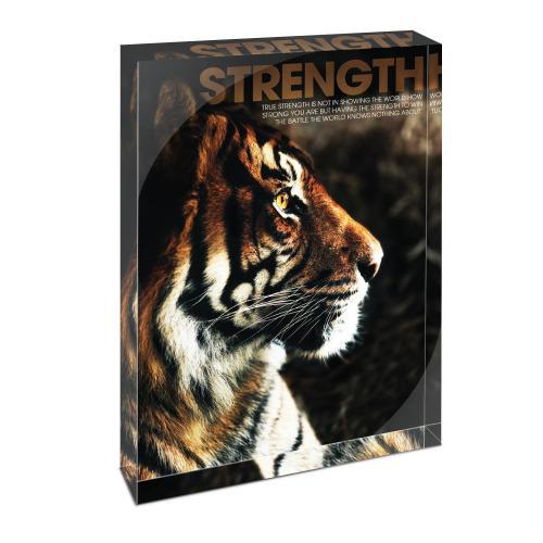 Strength Tiger Infinity Edge Acrylic Desktop