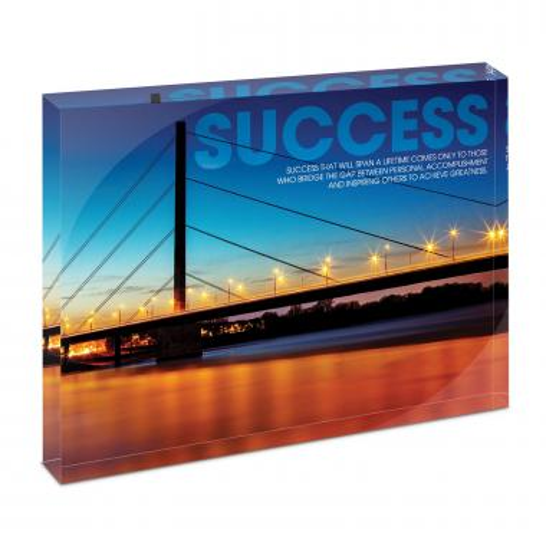 Success Bridge Infinity Edge Acrylic Desktop