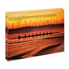 Modern Motivation - Teamwork Crewing Infinity Edge Acrylic Desktop